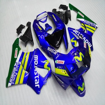 Custom motorcycle cowl for CBR919RR 1998-1999 CBR 900 RR 98 99 ABS Plastic Fairings+Botls+blue M2