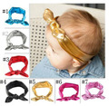 Gold Headband  Rabbit Ears For Baby Girls Elasticity Wash Gold Baby Girl Headband In Stock 7color