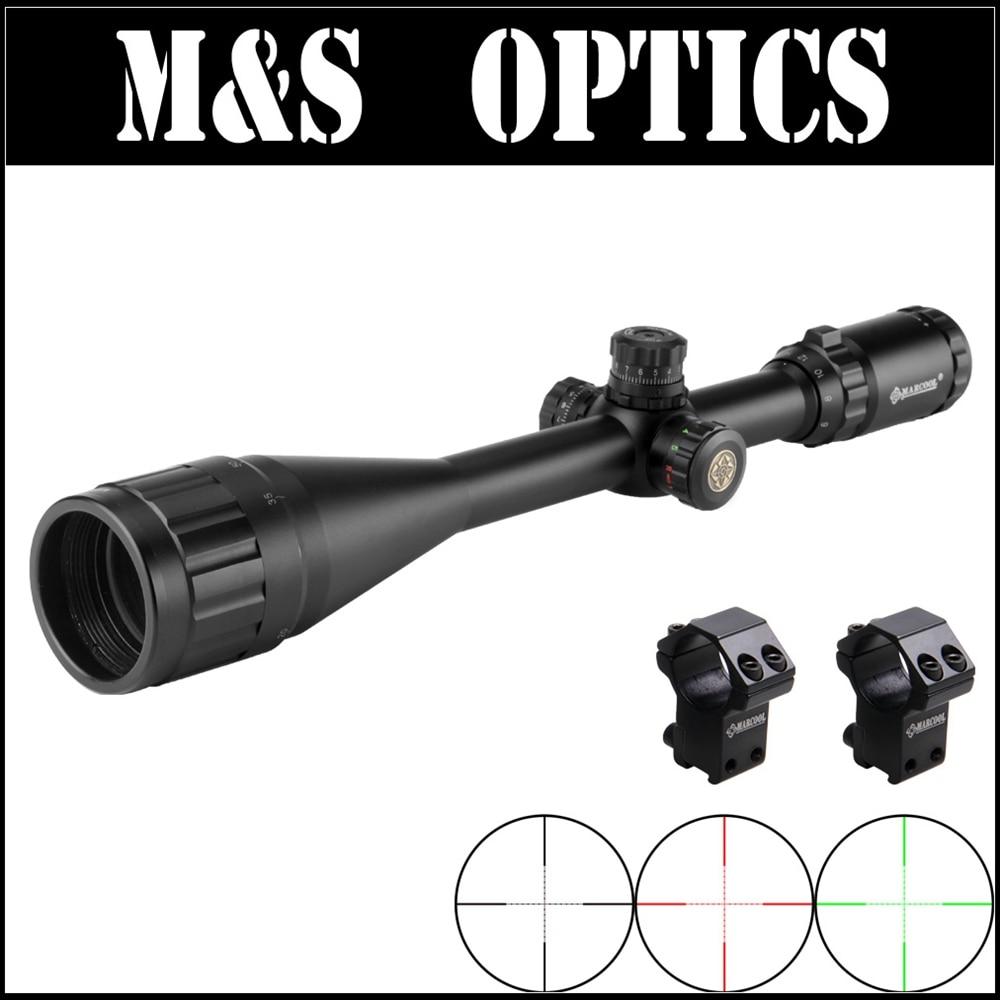 все цены на Marcool EST 6-24X50 AOIRGL Red&Green Dot Sights Hunting Riflescope Iluminated Air Airsoftsports Gun Optical Sight Rifle Scope онлайн