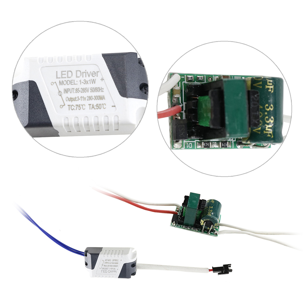 (1-3)x1W LED External/Inside Driver 240mA-260mA DC3-11V Power Supply AC110V/220V For Led Light 1pcs DF