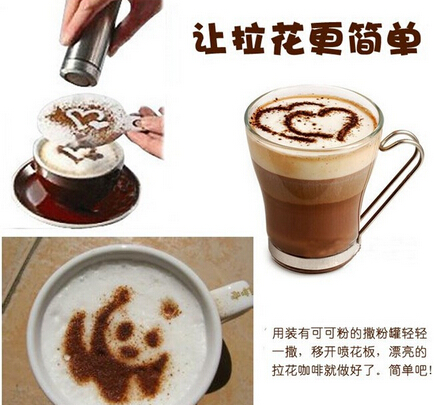 16pcs Set Coffee Latte Art Stencils Diy Decorating Cake Cappuccino Foam Tool Filtro Tea Tea