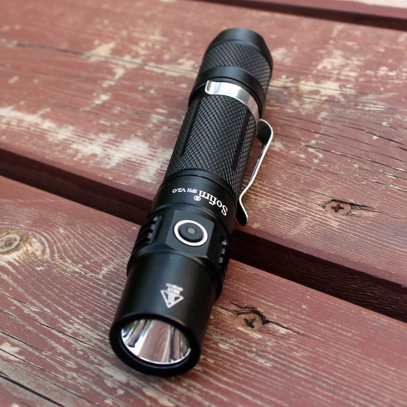 Image 3 - Sofirn sp31 v2.0 poderosa tactical lanterna led 18650 cree xpl hi  1200lm tocha lâmpada de luz com interruptor duplo indicador de  alimentação atrLanternas