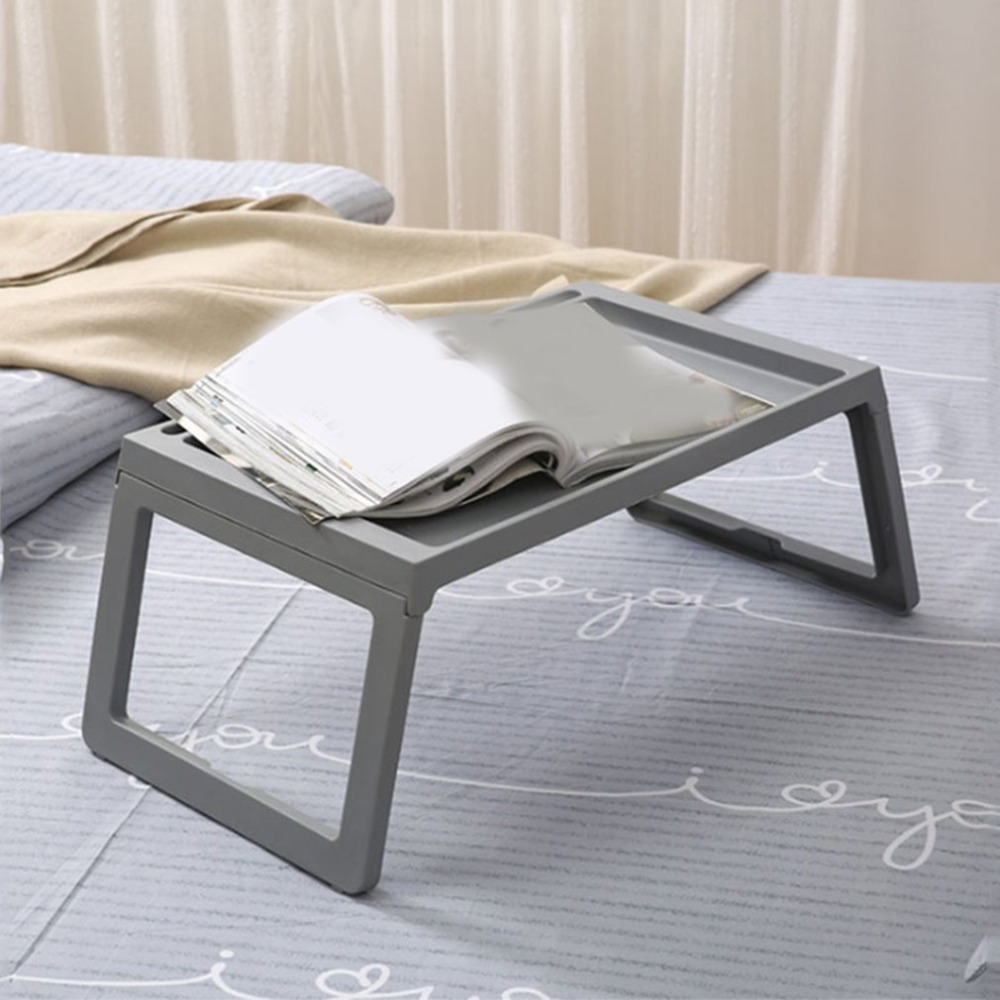 Portable Mobile Laptop Standing Desk For Bed Sofa Laptop Folding Table Notebook Desk With Mouse Pad For Home Office use(China)