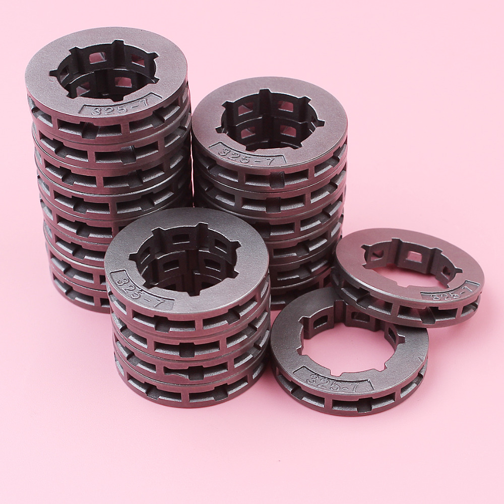 20pcs .325 7 Teeth Sprocket Rim For <font><b>Husqvarna</b></font> 133 <font><b>140</b></font> 142 154 246 254 257 346XP 351 353 357 455 460 50 51 55 Chainsaw 19mm image