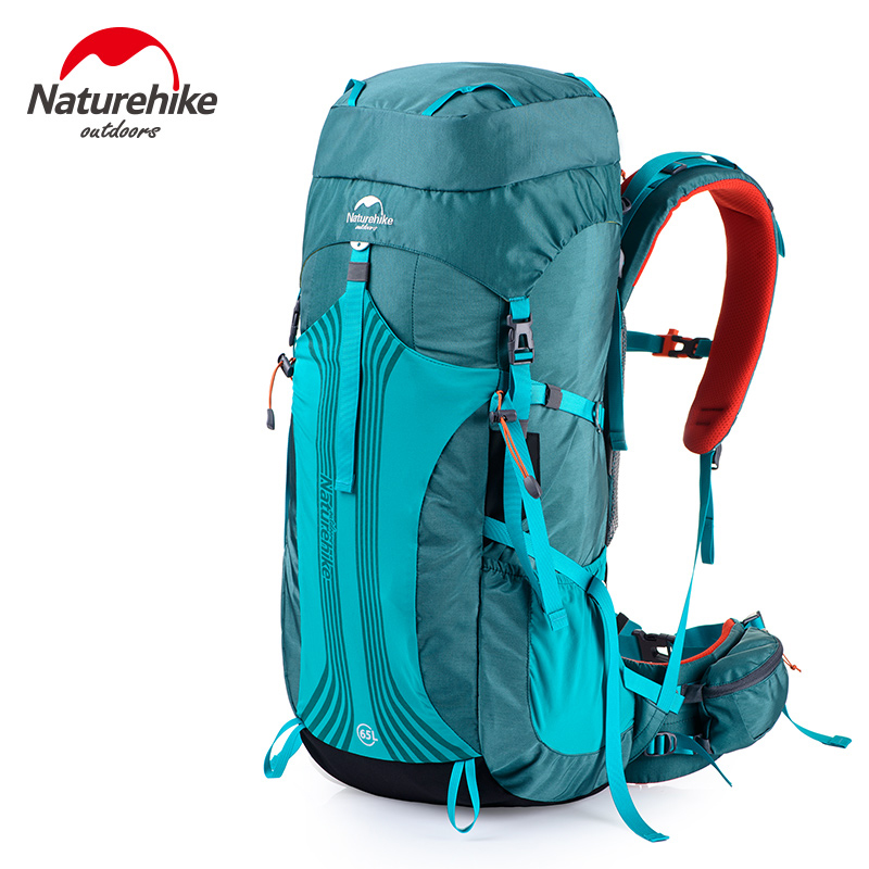 Naturehike 65L Outdoor Climbing Backpack With Professional Rain Cover 76x33.5x25cm Adjustable Shoulder Expedition Bag 1.98kg