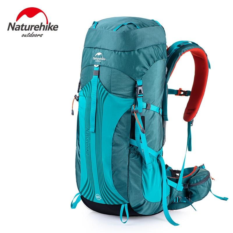 Naturetrekking 65L sac à dos d'escalade extérieur avec housse de pluie professionnelle 76x33.5x25 cm sac d'expédition à bandoulière réglable 1.98 kg