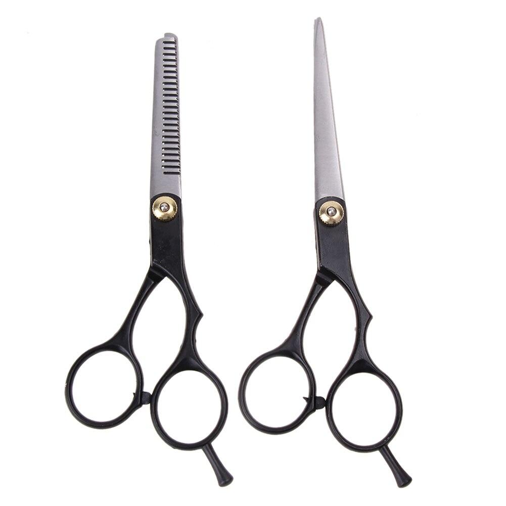 2pcs Barber Hair Cutting Thinning Scissors Shears Hair Cutting Thinning Shears Stainless steel Scissors Set Salon Professional 10