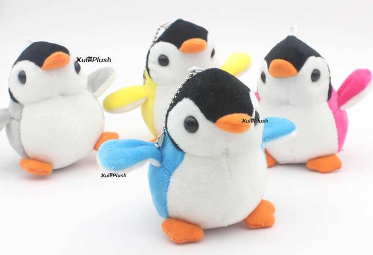 20 шт./лот 7 см маленький пингвин, плюшевые мягкие игрушки куклы; Подарочные игрушки-брелоки, детские мини плюшевые игрушки