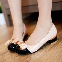Damen Runde Zehe-platz Ferse Schuhe Frauen Sexy Heels schuhe Partei Schuhe Frühling Marke Qualität Wohnungen Kleid Schuhe Größe 35-40