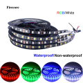 5M 5050 RGB/White Black PCB 300 LED 60led/m SMD Waterproof IP65 DC 12V Flexible Light Strip
