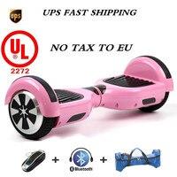 Сумка + розовый UL 2272 Сертифицированный Bluetooth самобалансирующий электрический скутер Hoverboard скейтборд динамик LED Marquee светодио дный WHEELS UC6.5 P