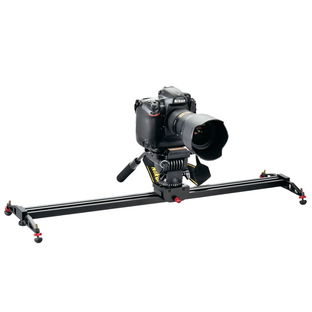 DIGIPOD Camera Dolly Track Slider Stabilizer System for DSLR Camcorders 32/800mm CS-800X ye 5d2 super mute 3 wheel truck dolly slider skater for dslr camera black
