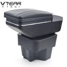 Vtear для KIA K2 Рио 3 подлокотник коробка центральный хранить содержимое коробки с подстаканником товары подкладке автомобиль-Стайлинг Аксессуары 2011-2016
