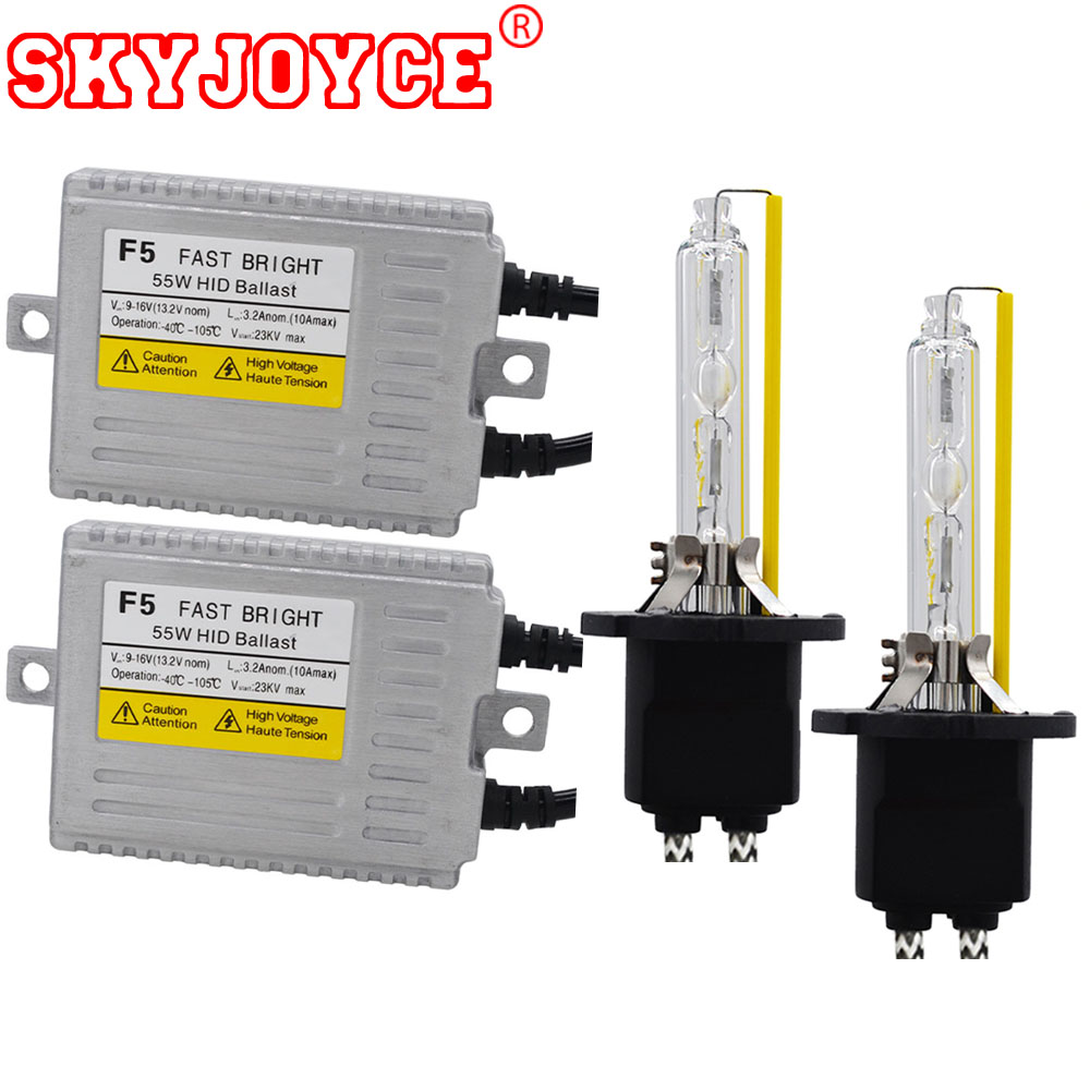 SKYJOYCE F5 55 W rapide lumineux xénon H7 HID KIT D2H H4 Bixenon 5500 K blanc H1 H3 H11 9012 9005 9006 voiture HID phare Ballast Kit
