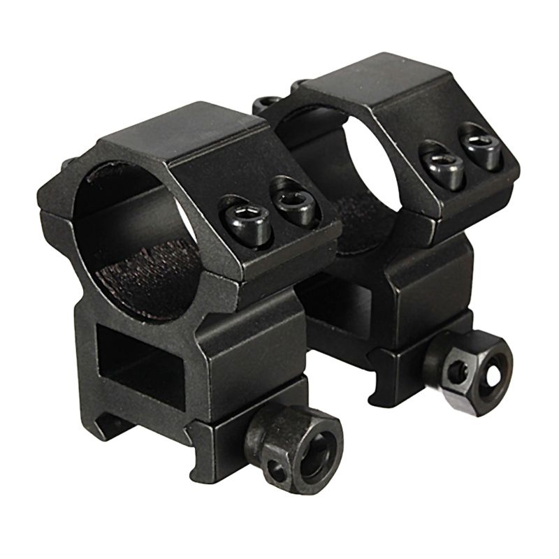 1 Pair 25.4mm Rifle Scope Ring High Profile Fit for 20mm Picatinny Weaver Rail Mount Flashlight Mounts Hunting Accessory