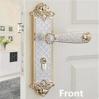 Modern simple mechanical interior door lock, gold room silver bedroom study toilet kitchen solid wood door panel handle lock