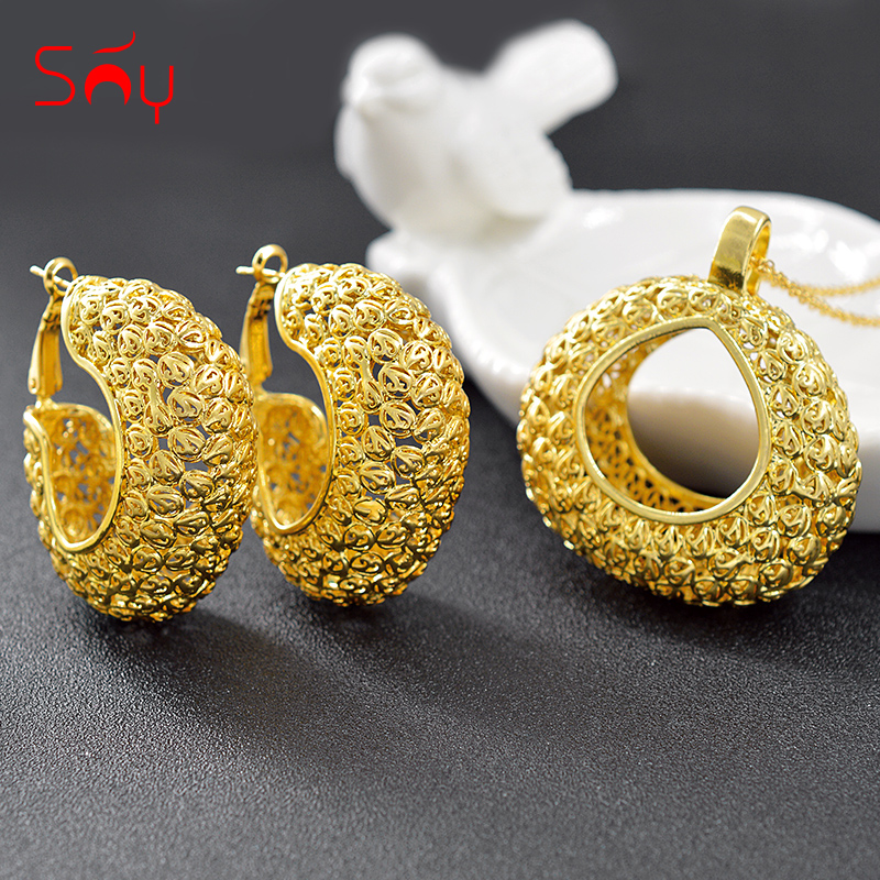 Sunny Jewelry Trendy Jewelry Sets For Women Hot Selling Jewelry Necklace Earrings Pendant Big Jewelry Findings For Anniversary