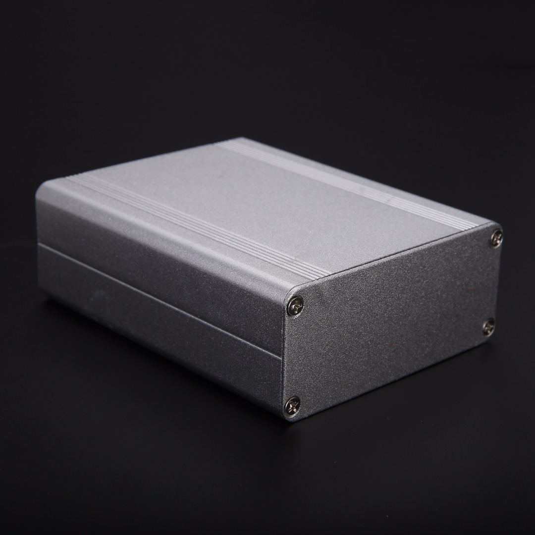 1pc Extruded Aluminum Electrical Project Instrument Case Silver Enclosure Box 110*88*38mm 1 piece free shipping aluminium enclosure case aluminium extruded enclosure in silver color smooth surface silver color box