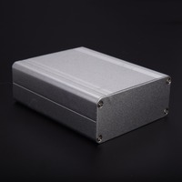 1pc Extruded Aluminum Electrical Project Instrument Case Silver Enclosure Box 110*88*38mm