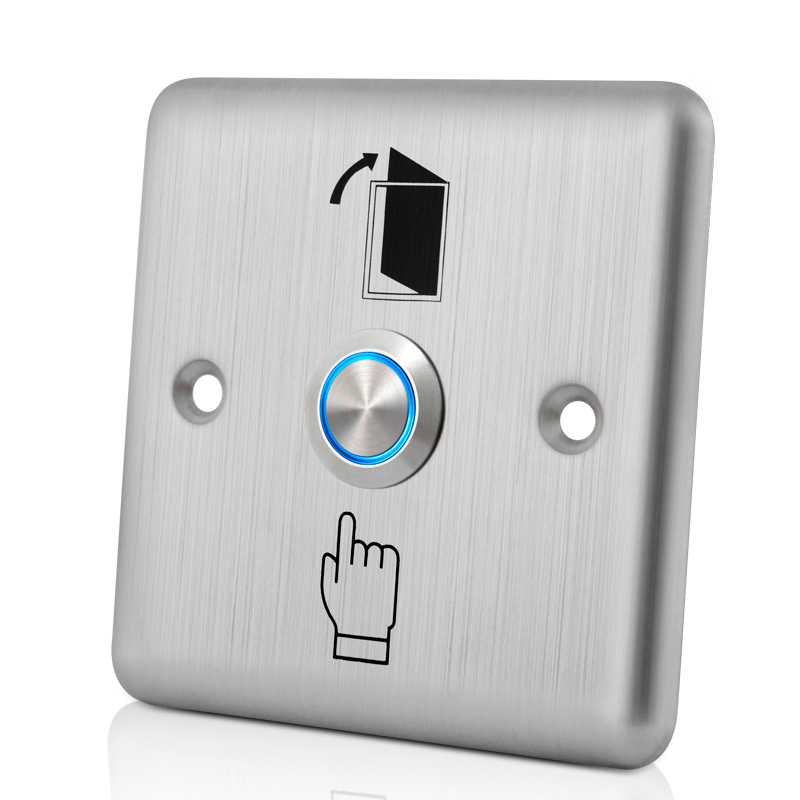 LUCKING DOOR LED Backlight Stainless Steel Exit Button Push Switch Door Sensor Opener Release For Access Control