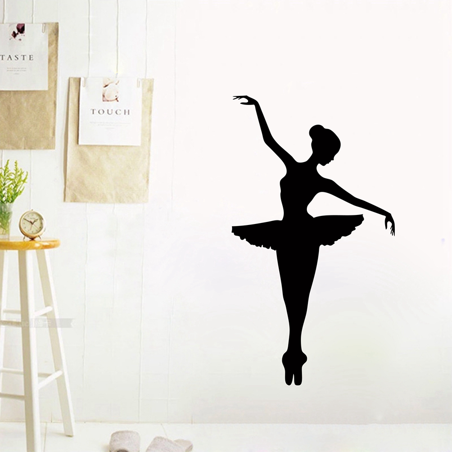 Ballerina wall decal dancer dancing ballet vinyl wall decal ballerina wall decal dancer dancing ballet vinyl wall decal graphic stickers large size free shipping a2058 in underwear from mother kids on amipublicfo Gallery