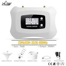 ¡Marca superior! Repetidor de señal 2G 3G, 850MHz, amplificador de señal móvil 3G, repetidor Yagi 2G + kit de antena de techo