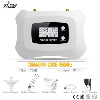 Top Brand! 2G 3G Signal Repeater CDMA 850MHz Mobile Signal Booster 3G Cell phone Amplifier 2G repeater Yagi+Ceiling antenna kit