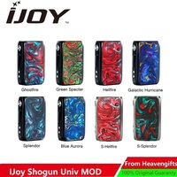Box Mod New Original IJoy Shogun Univ 180W Box Mod Powered By Dual 18650 Battery Vape Mod Vape Vaporizer Vs DRAG 2 / DRAG Mini