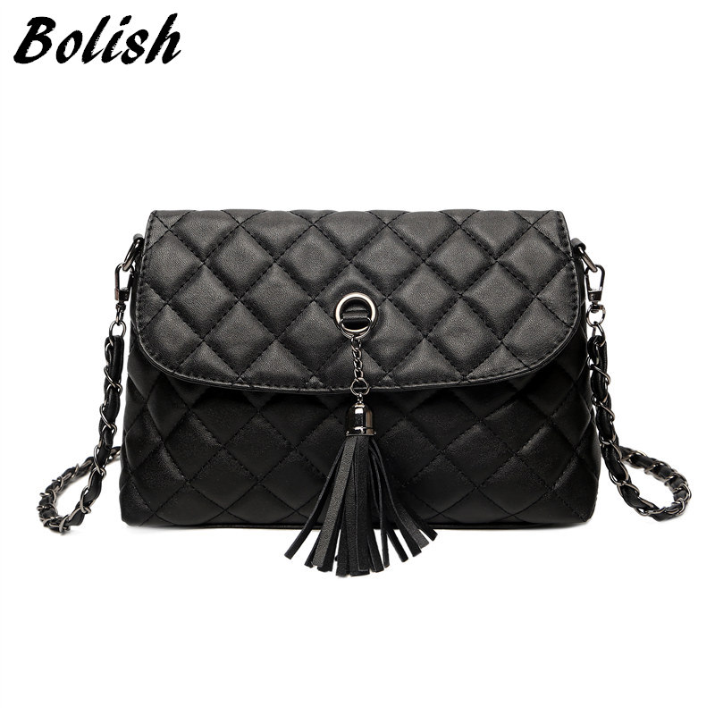Bolish New Style Retro Minimalist Crossbody Bag Fashion Small Women Shoulder Bag Tassel Women Messenger Bag