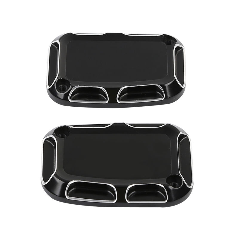 TCMT Motorcycle Beveled Brake Master Cylinder Covers For Harley Electra Glide Road King FLH FLHR 08-17 V-Rod Muscl VRSCAW 07-10 high quality linen universal car seat covers for toyota corolla camry rav4 auris prius yalis car accessories cushions styling