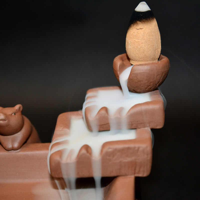 Задняя курильница с держателем свиньи ладан горелка башня Креативные украшения дома пирамидки благовоний Декор дзен благовония база Z267