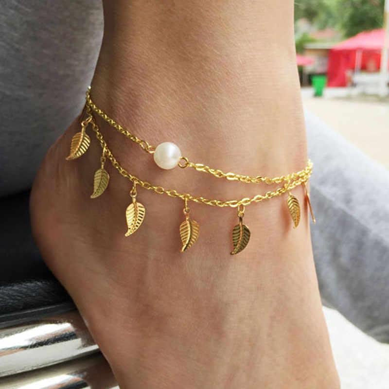 Boho เริ่มต้นข้อเท้าสร้อยข้อมือ Bohemian ข้อเท้าสร้อยข้อมือเท้าสุภาพสตรีเครื่องประดับ Anklets สำหรับผู้หญิง Accesorios Mujer L0523