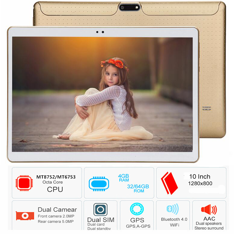 2019 Kids High Big capacity tablet PC Free Shipping 10.1 inch 3G/4G LTE Phone  Android 8.0 Octa Core RAM 4GB ROM 128GB 64GB IPS (China)