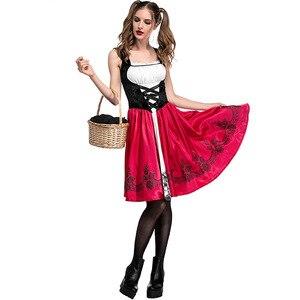 Image 5 - S 6XL Sexy Delle Donne Little Red Riding Hood Costume Adulto di Halloween Del Partito Del Vestito Operato + Mantello Del Costume di Cosplay