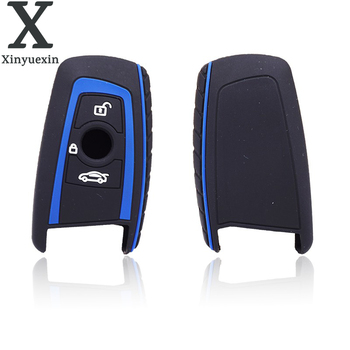 Xinyuexin 3 Bottons Silicone Key Case for BMW E30 E34 E36 E39 E46 F10 F11 F31 G30 1 2 3 5 7 SERIES Fob Shell Cover image