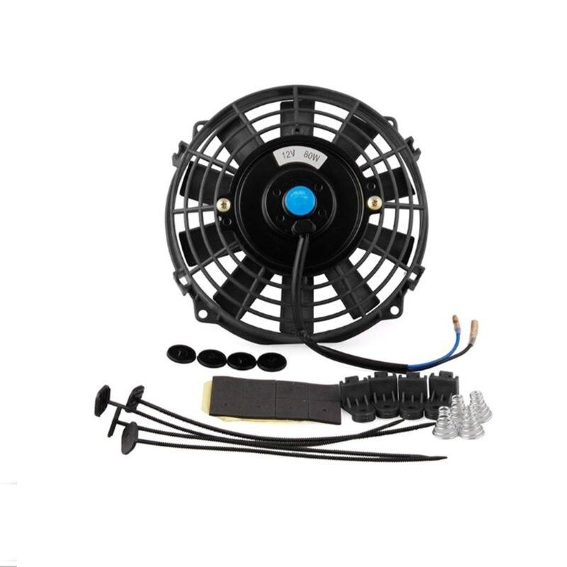 Универсальный 1 комплект 8 дюймовый мини электрический вентилятор DC 12 В радиатор масляного охлаждения авто вентилятор для автомобиля грузо