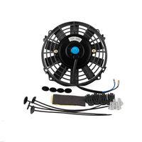 Universal 1 Set 6 Inch Mini Electric Fan DC 12V Radiator Oil Cooling Auto Car Fan for Vehicle Car Truck ATV Boat