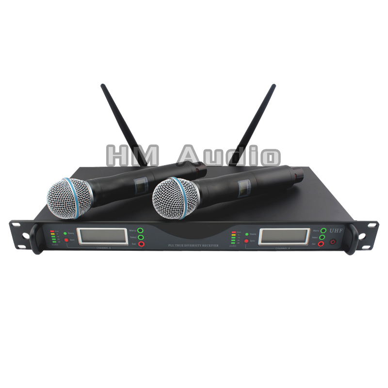 New High Quality Professional Dual Wireless Microphone System True diversity
