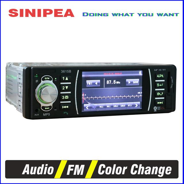 3.6 polegada TFT Carro Da Tela de DVD player Do Carro Mp5 Vedio de Áudio AUX no Rádio FM Apoio Câmera de Visão Traseira