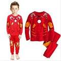 Nova de algodão de manga longa bebê meninos sets crianças pijama pijama pijamas das crianças de alta qualidade meninos crianças ternos roupas 2-7a