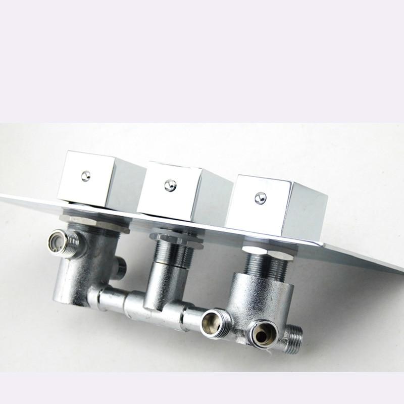 Bakala サーモスタットシャワーの蛇口混合弁 4 機能バルブ隠さ簡単マウントボックス真鍮隠さバルブ壁マウント  グループ上の 家のリフォーム からの シャワー 蛇口 の中 3