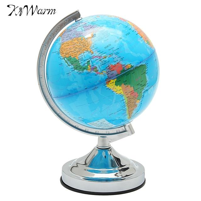 KiWarm Modern W Desk Rotating LED World Globe Lamp Kids - World globe map for kids