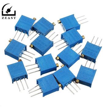 13 sztuk 13 wartości 3296 Multiturn potencjometr przycinarki Kit High Precision 3296 zmienny rezystor z bezpłatnym pudełkiem elektroniczny zestaw do majsterkowania tanie i dobre opinie ZEAST NONE CN (pochodzenie) Elektryczne AS SHOW