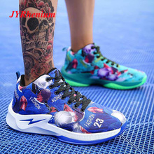 JYRhenium 2019 New Men basketball Shoes Zapatillas Hombre Deportiva Breathable Men Ankle Boots Basketball Sneakers Athletic Shoe цена