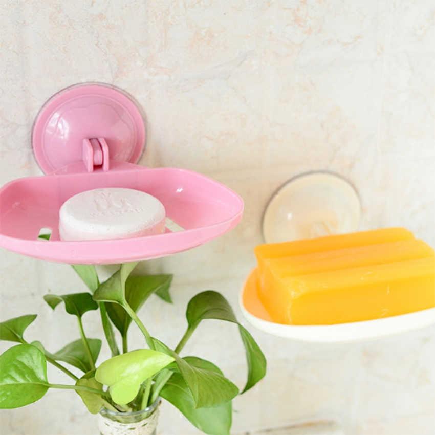 Camadas duplas Utensílios de Cozinha Acessórios Do Banheiro Prato de Sabão Sucção Caixa de Sabão Titular Caixa de Sabão Cesta de Armazenamento Carrinho
