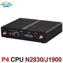P4 безвентиляторный Intel Celeron N2810 двухъядерный Мини-ПК J1900 Quad Core 2.0 ГГц Windows7/8/10 мини-компьютер HDMI WIFI Dual LAN ТВ коробка