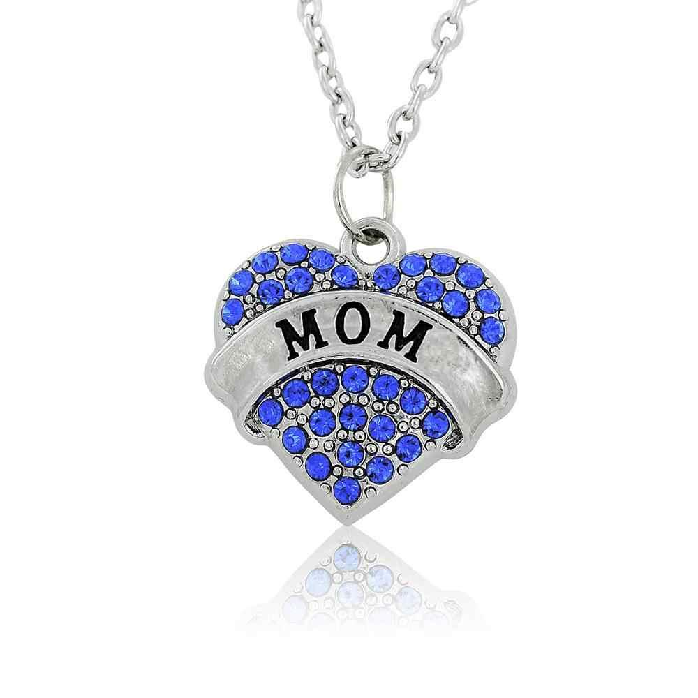 Amazon caliente estilo inglés cartas mamá corazones mamá collar regalo en el día de la madre