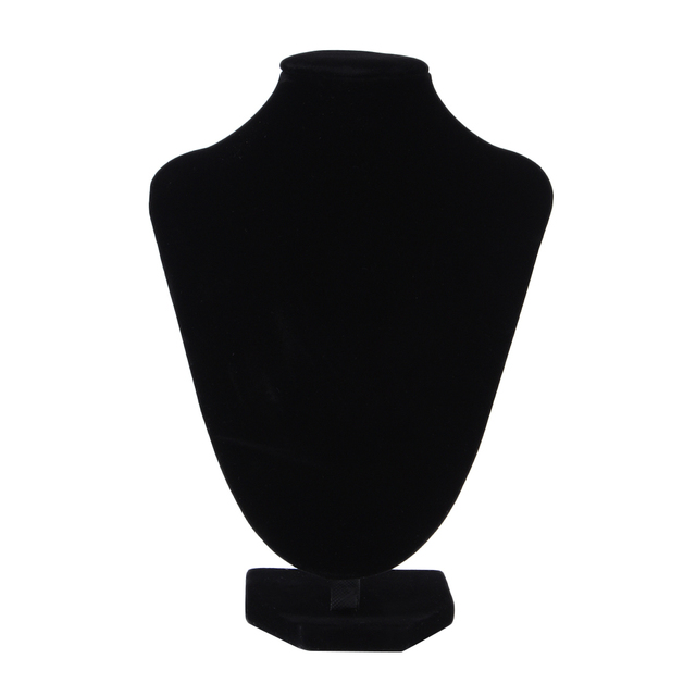 Black Velvet Earring Display Stand GENBOLI Necklace Bracelet Pendant Display Stand Rack Black Velvet 33