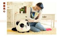 stuffed animal 55cm lying panda lovely doll plush toy gift w2126