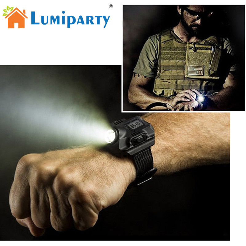 LED Watch Flashlight LED Watch Flash Light Wristlight Rechargeable Lamps Lantern Waterproof Wrist Lighting Torch Outdoor lamp